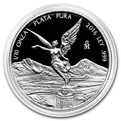 PROOF LIBERTAD - MEXICO - 2016 1/10 oz Proof Silver Coin in Capsule