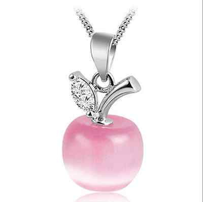 HOT 925 Sterling silver Fashion Jewelry Zirconia CZ Women lovers Apple pendants