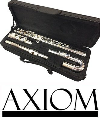 Axiom Student Flute Beginners Curved Head Flute Childrens Flute 2 Year Warranty