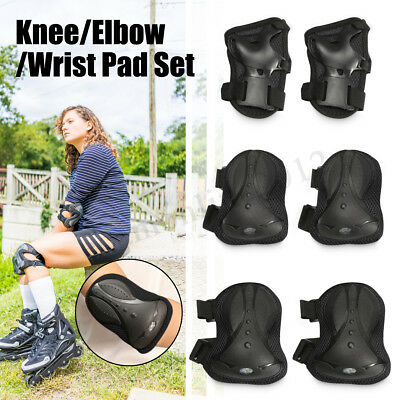 Adult Knee Elbow Wrist Set Guard Pads Protectors For Skating Skateboard Scooter