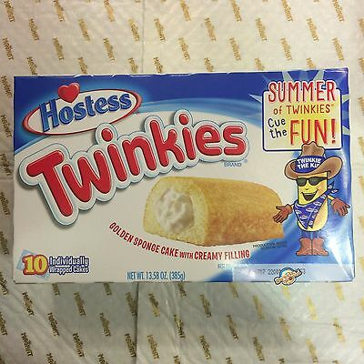 10 pk USA HOSTESS TWINKIES INDIVIDUALLY WRAPPED GOLDEN SPONGE CAKES 385g