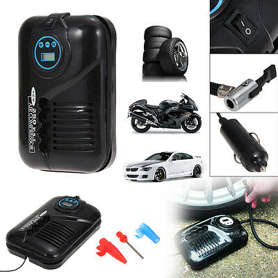 12V Portable Digital LCD Electric Car Tyre Pump Inflator Air Compressor 250PSI
