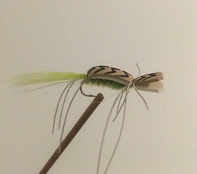 4 x FOAM GURGLER BASS AND NATIVE FLY FISHING FLIES