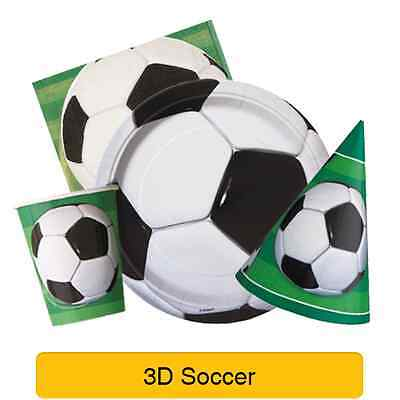 3D SOCCER Party Tableware & Decorations (Birthday/Napkins/Plates/Football)