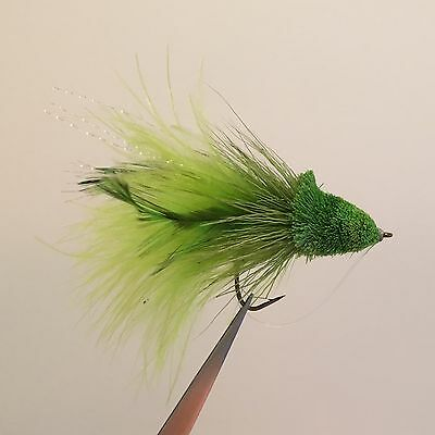 4 x DEER HAIR DAHLBERG DIVER BASS BUG FLY FISHING FLIES