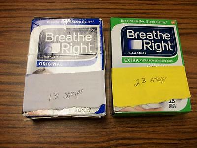 Breathe Right Nasal Strips 36 Total Clear and Tan Sealed