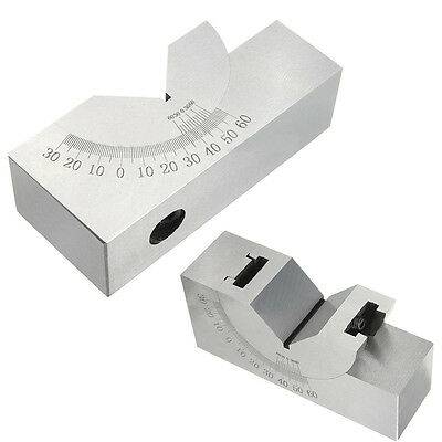75x25x32mm Toolmaker Precision Micro Adjustable Angle V Block Milling 0- 60° Set