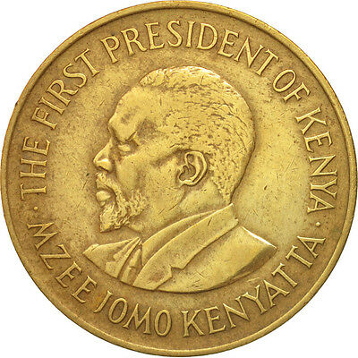 [#503156] Kenya, 10 Cents, 1978, S+, Nickel-brass, KM:11