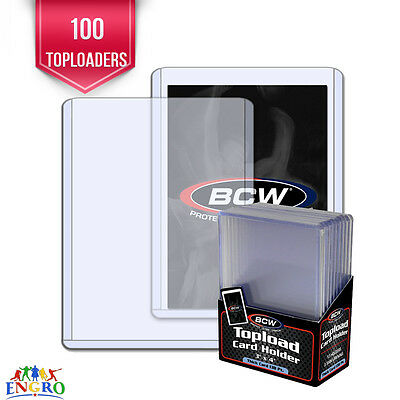 100 BCW 3.5mm Thick Memorabilia Jersey Trading Card Holders 138pt Toploaders