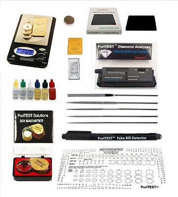 Gold/Silver & Diamond Tester Gemstone Testing Kit Digital Electronic Test Scale