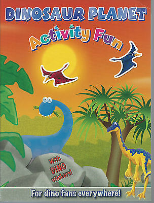 Dinosaur Planet Activity Book with stickers with colouring-activitys & puzzles