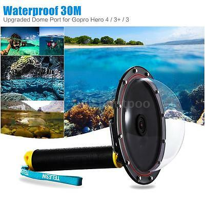 TELESIN Aluminum Dome Port Diving Photography for Gopro Hero 4/3+/3 Camera J0Q6