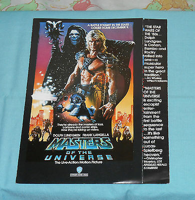 vintage MASTERS OF THE UNIVERSE video store ADVERTISING BROCHURE Dolph Lundgren