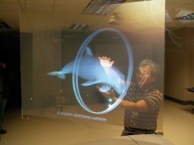 60*120CM Self Adhesive Holographic Rear Projection Screen Material Window Film