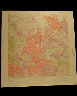 Walnut Creek San Ramon California vintage 1969 USGS Topographical city map
