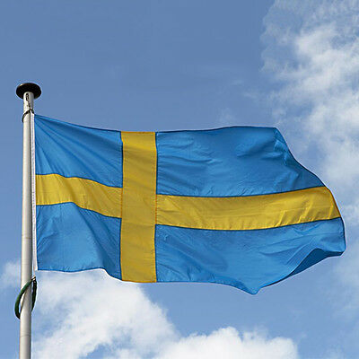 3'x5' Large Sweden Flag Polyester the Swedish National Banner 1WA