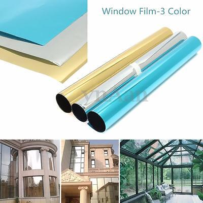 62.5 x 31cm Solar Reflective One Way Mirror Window Film Insulation Sticker Paper