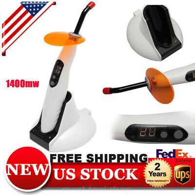 Dental Wireless LED-B Curing Light Cordless Lamp 1400mw Woodpecker Style USA