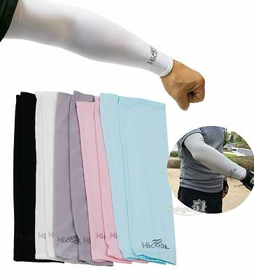 1pair Cooling Athletic Sport Skins Arm Sleeves Sun Protective UV Cover Golf US