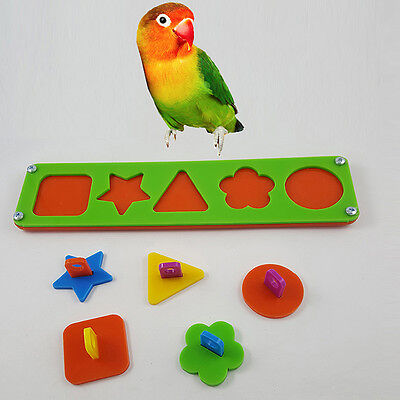 Pet Bird Puzzle Building Block Chew Bite Toys Cockatiel Parakeet Parrot Training
