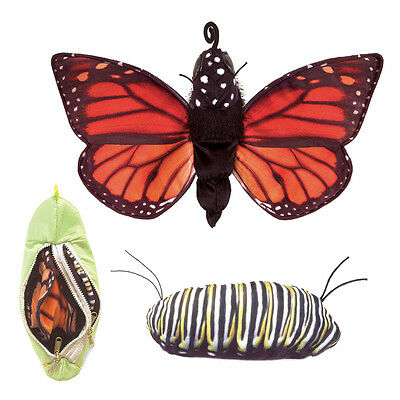 *NEW* PLUSH SOFT TOY Folkmanis 3073 Monarch Butterfly Life Cycle Hand Puppet