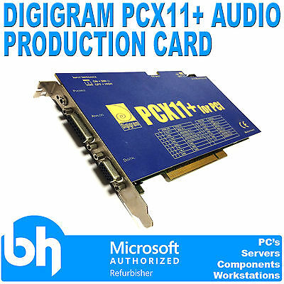 Digigram PCX11+ for PCI Broadcast Automation/Audio Production Card AES/EBU SPDIF