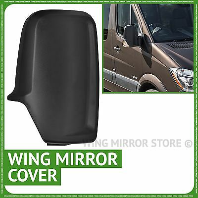 Mercedes Sprinter 06-2016 Right driver side Black wing door mirror cover case