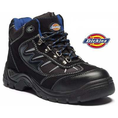 Dickies Storm Safety Work Boot Trainer Hiker Steel Toe Cap Black Size 8