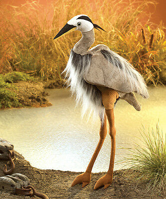 *NEW* PLUSH SOFT TOY Folkmanis 3077 Great Blue Heron Hand Puppet