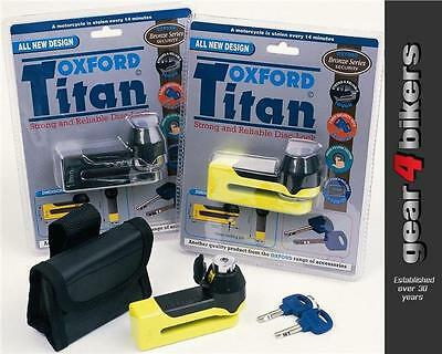 Oxford Titan OF50 Yellow Disc Lock Motorcycle Scooter Disk Tough Security