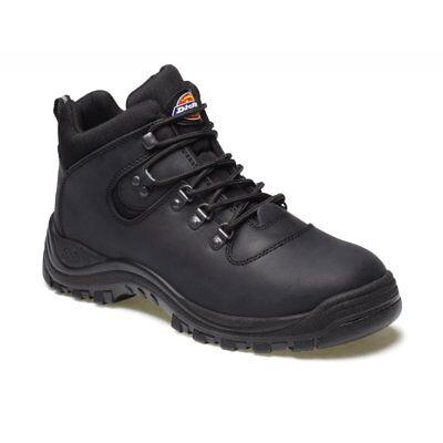 Dickies Fury Leather Safety Work Hiker Boot Sra Steel Toe Cap Black Size 8