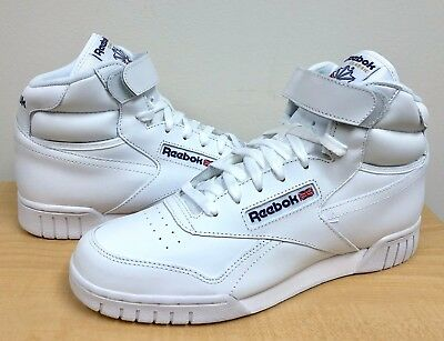 MENS REEBOK CLASSIC EX-O-FIT HI White/White -3477- ATHLETIC