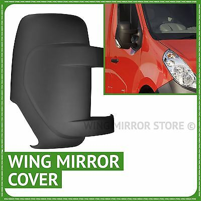 Right Driver side wing door mirror cover black case Renault Master 2010-2015
