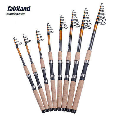 Fairiland travel spinning fishing pole carbon telescope fishing rod lure tackle