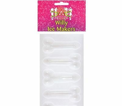 Willy Shaped Ice Cube / Jelly / Chocolate Mould Stencil Tray Great For Hen Party