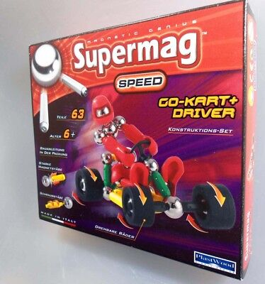 Supermag Magnetic Speed Go-Kart Fahrer Driver Konstruktions-Set  0368