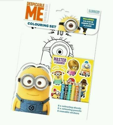 Despicable Me Minions Colouring Set, With Colouring Sheets, Stickers, Pencils