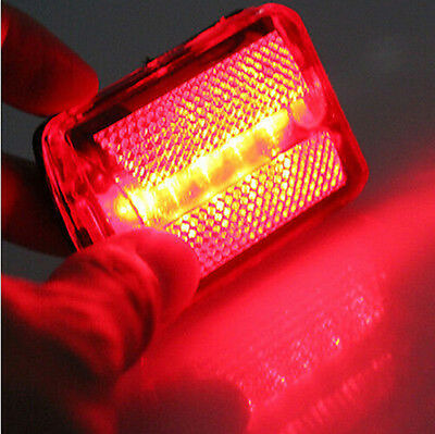 New Flash Light Safety Warning Rear Tail Cycling 5 LED Bicycle Beam Bike