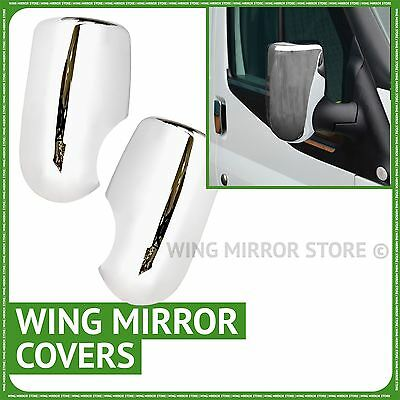 Pair of wing door chrome mirror covers caps for Ford Transit 2006-2013