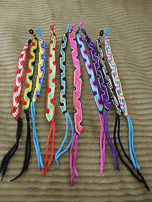 Made In Peru New Peruvian Multi-Color Friendship Bracelets 1 Lot of 20 Mixed