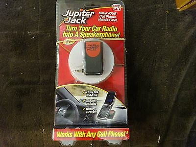 """Jupiter Jack Cell Phone Car Radio Adapter w/ 6 Adapters!-""""NEW"""""""
