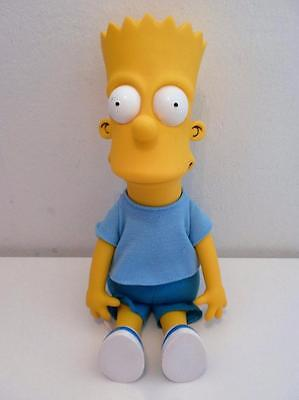 """Vintage The Simpsons Bart Plush Soft Toy Doll Ornament 1990 9"""" Tall"""