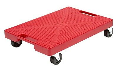 Sturdy Red Rolling Garage Dolly Multi Purpose Moving Utility Cart Caddy 200 lbs