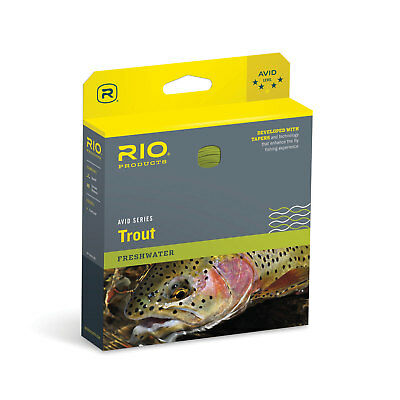 RIO Avid Trout Floating Fly Fishing Lines - Pale Yellow Lines