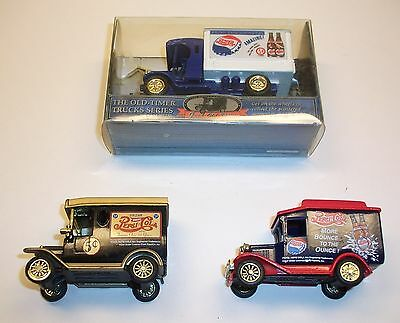 Set of Three Pepsi Old Time Delivery Trucks