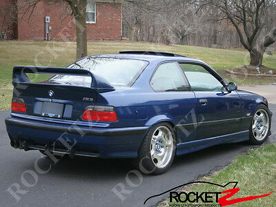 92-98 BMW E36 HM LTW Style 2PC Trunk Spoiler Wing CANADA USA (High Ver )