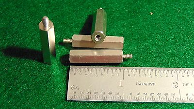 "Concord Nickel Plated Brass Threaded Stand-Off 1//4/""Hex 1//4/""L 6x32 NOS 4"
