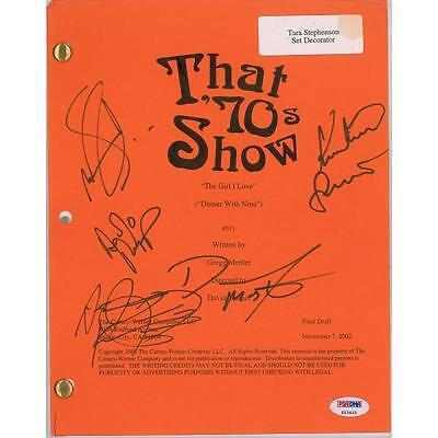 THAT' 70s SHOW - Signed script by all main actors - (PSA/DNA)