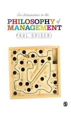An Introduction to the Philosophy of Management by Paul Griseri Hardcover Book (
