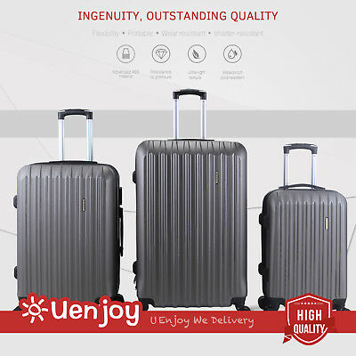 3Pcs Luggage Travel Set Bag Trolley Spinner Carry On Suitcase with Lock